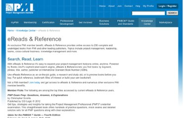 http://www.pmi.org/Knowledge-Center/Virtual-Library-eReads-and-Reference.aspx