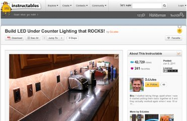 http://www.instructables.com/id/Build-LED-Under-Counter-Lighting-that-ROCKS/
