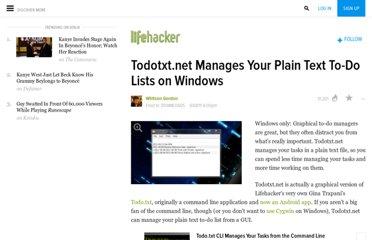 http://lifehacker.com/5809990/todotxtnet-manages-your-plain-text-to+do-lists-on-windows