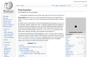 http://en.wikipedia.org/wiki/Punctuation