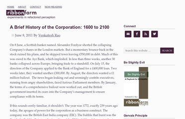 http://www.ribbonfarm.com/2011/06/08/a-brief-history-of-the-corporation-1600-to-2100/