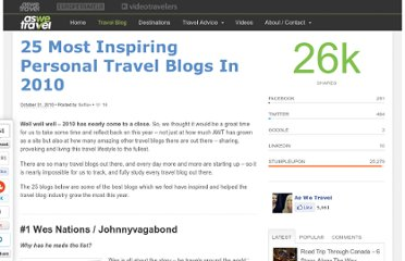 http://www.aswetravel.com/25-most-inspiring-travel-bloggers-in-2010/