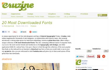 http://www.cruzine.com/2011/03/23/20-top-downloaded-free-fonts/