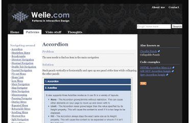 http://www.welie.com/patterns/showPattern.php?patternID=accordion