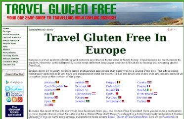 http://www.travelglutenfree.co.uk/Europe.php