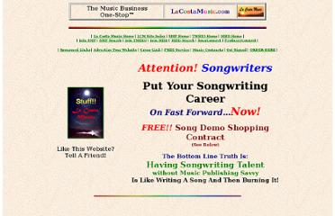 http://www.lacostamusic.com/songwriters-songwriting-song-music-publishing-song-markets-marketing-music-licenses-licensing.htm
