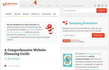 http://www.smashingmagazine.com/2011/06/09/a-comprehensive-website-planning-guide/