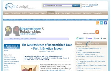 http://blogs.psychcentral.com/relationships/2011/06/the-neuroscience-of-romanticized-love-part-1-emotional-taboos/