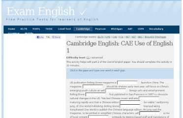 http://www.examenglish.com/CAE/English_in_Use_cloze.php