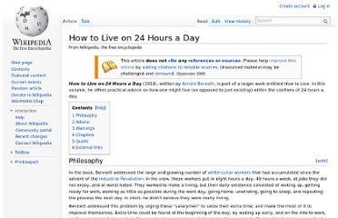 http://en.wikipedia.org/wiki/How_to_Live_on_24_Hours_a_Day