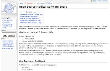 http://www.openmedsoftware.org/wiki/Open_Source_Medical_Software_Board
