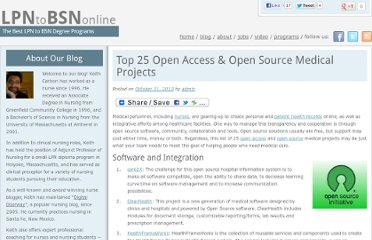 http://lpntobsnonline.org/2010/top-25-open-access-open-source-medical-projects/