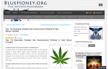 http://bluehoney.org/2010/01/18/top-10-cannabis-studies-the-government-wished-it-had-never-funded/