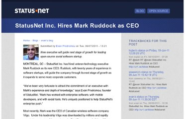 http://status.net/2011/06/07/statusnet-inc-hires-mark-ruddock-as-ceo