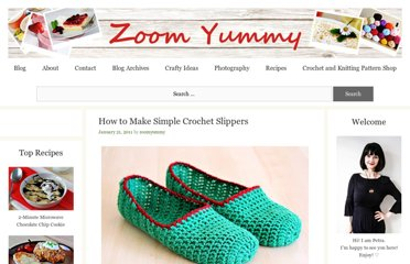 http://zoomyummy.com/2011/01/21/how-to-make-simple-crochet-slippers/