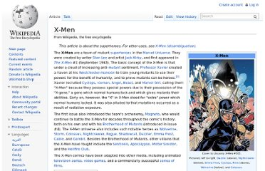http://en.wikipedia.org/wiki/X-Men
