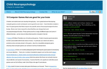 http://www.drjonathanreed.co.uk/wordpress/2011/06/10-computer-games-that-are-good-for-your-brain/