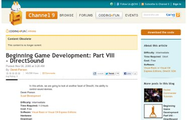 http://channel9.msdn.com/coding4fun/articles/Beginning-Game-Development-Part-VIII-DirectSound