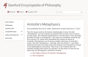 http://plato.stanford.edu/entries/aristotle-metaphysics/