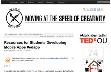 http://www.speedofcreativity.org/2011/06/06/resources-for-students-developing-mobile-apps-edapp/