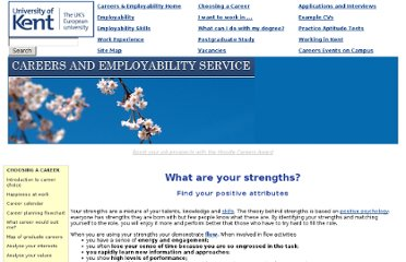 http://www.kent.ac.uk/careers/Choosing/strengths.htm