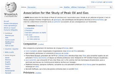 http://fr.wikipedia.org/wiki/Association_for_the_Study_of_Peak_Oil_and_Gas