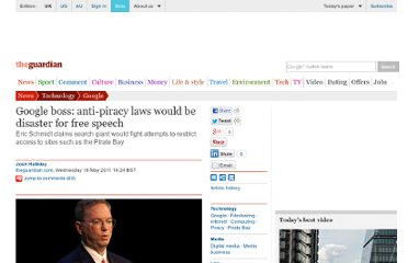 http://www.guardian.co.uk/technology/2011/may/18/google-eric-schmidt-piracy
