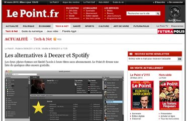http://www.lepoint.fr/high-tech-internet/les-alternatives-a-deezer-et-spotify-08-06-2011-1339941_47.php