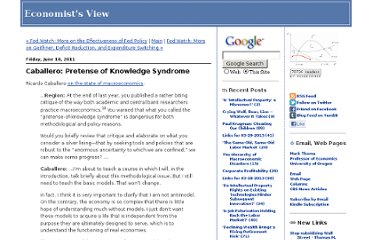 http://economistsview.typepad.com/economistsview/2011/06/caballero-pretense-of-knowledge-syndrome.html
