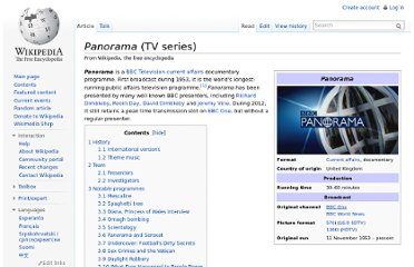 http://en.wikipedia.org/wiki/Panorama_(TV_series)