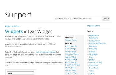 http://en.support.wordpress.com/widgets/text-widget/#adding-an-image