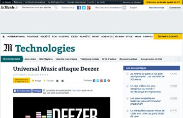 http://www.lemonde.fr/technologies/article/2011/06/10/universal-music-attaque-deezer_1534671_651865.html#xtor=RSS-3208001?utm_source=twitterfeed&utm_medium=twitter