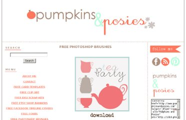 http://www.pumpkinsandposies.com/free-photoshop-brushes.html