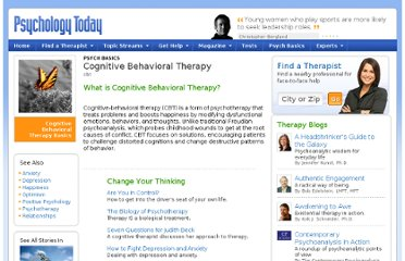 http://www.psychologytoday.com/basics/cognitive-behavioral-therapy