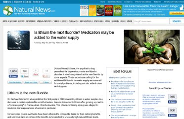 http://www.naturalnews.com/032669_lithium_water_supply.html#ixzz1OsbTT7mh