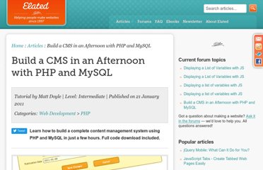 http://www.elated.com/articles/cms-in-an-afternoon-php-mysql/