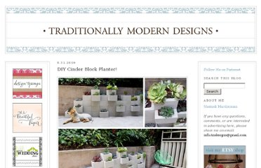 http://traditionallymoderndesigns.blogspot.com/2009/08/diy-cinder-block-planter.html