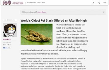 http://io9.com/5099717/worlds-oldest-pot-stash-offered-an-afterlife-high