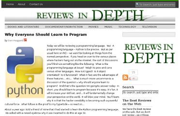 http://reviewsindepth.com/2011/04/why-everyone-should-learn-to-program/