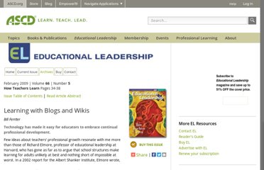 http://www.ascd.org/publications/educational-leadership/feb09/vol66/num05/Learning-with-Blogs-and-Wikis.aspx
