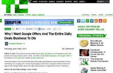 http://techcrunch.com/2011/06/11/google-offers-daily-deals-business-die/