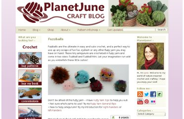 http://www.planetjune.com/blog/free-crochet-patterns/fuzzballs/