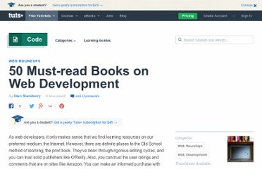 http://net.tutsplus.com/articles/web-roundups/50-must-read-books-in-web-development/