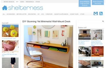 http://www.shelterness.com/diy-stunning-yet-minimalist-wall-mount-desk/