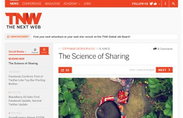 http://thenextweb.com/socialmedia/2011/06/11/the-science-of-sharing/
