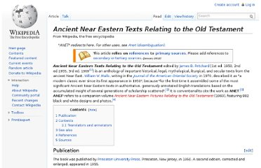 http://en.wikipedia.org/wiki/Ancient_Near_Eastern_Texts_Relating_to_the_Old_Testament
