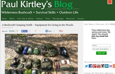 http://paulkirtley.co.uk/2011/bushcraft-camping-equipment/