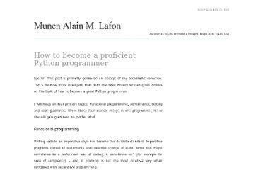 http://blog.dispatched.ch/2011/06/12/how-to-become-a-proficient-python-programmer/