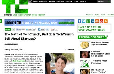 http://techcrunch.com/2011/06/12/math-of-techcrunch-startups/