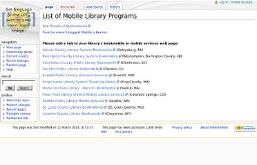 http://olos.ala.org/bookmobiles/index.php?title=List_of_Mobile_Library_Programs